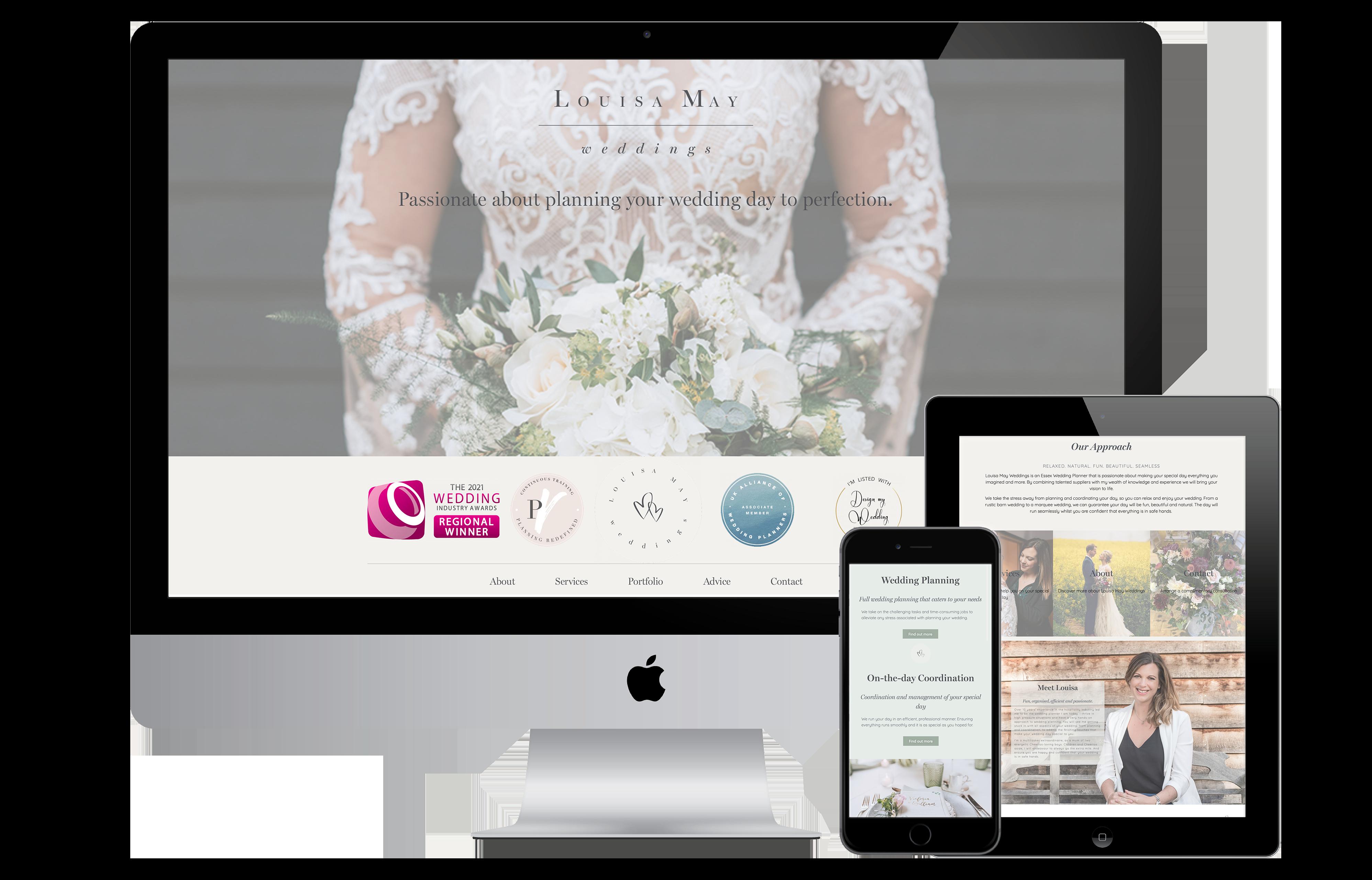 Louisa May Weddings Website Design