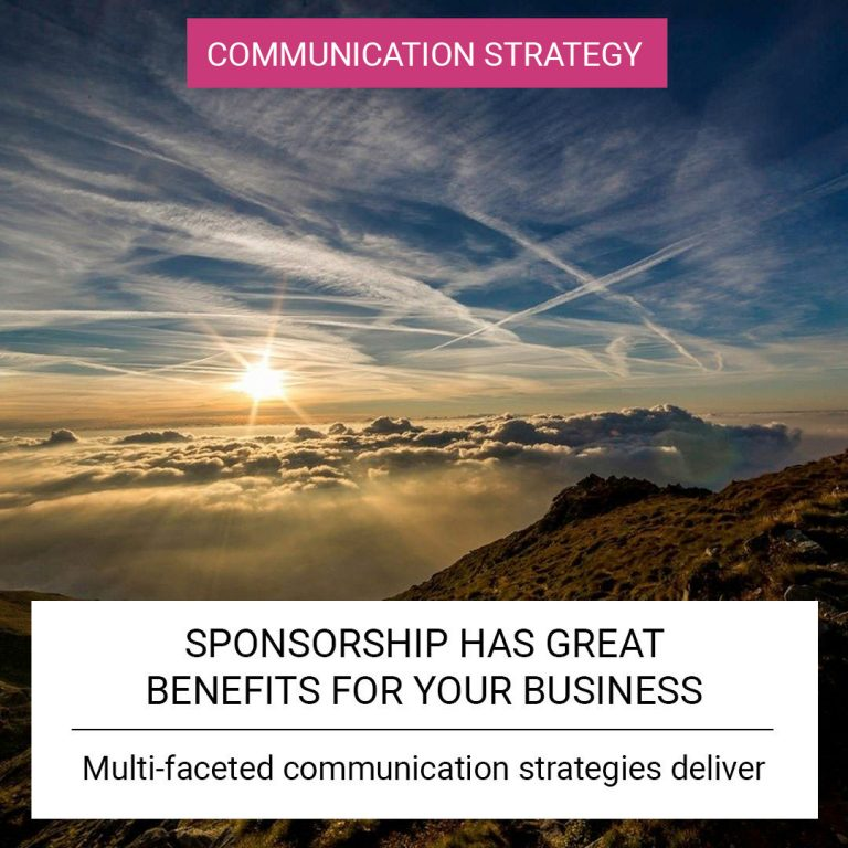 Sponsorship has great benefits for your business