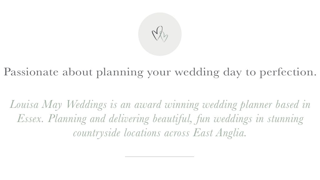 Louisa May Weddings - Comms Identity