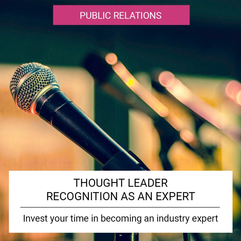 Thought Leader - Recognition as an expert