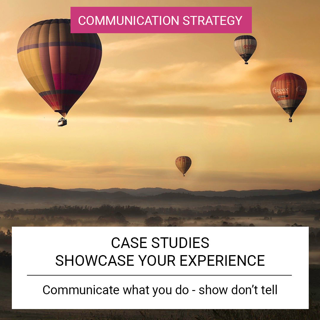 Case Studies - Showcase your experience