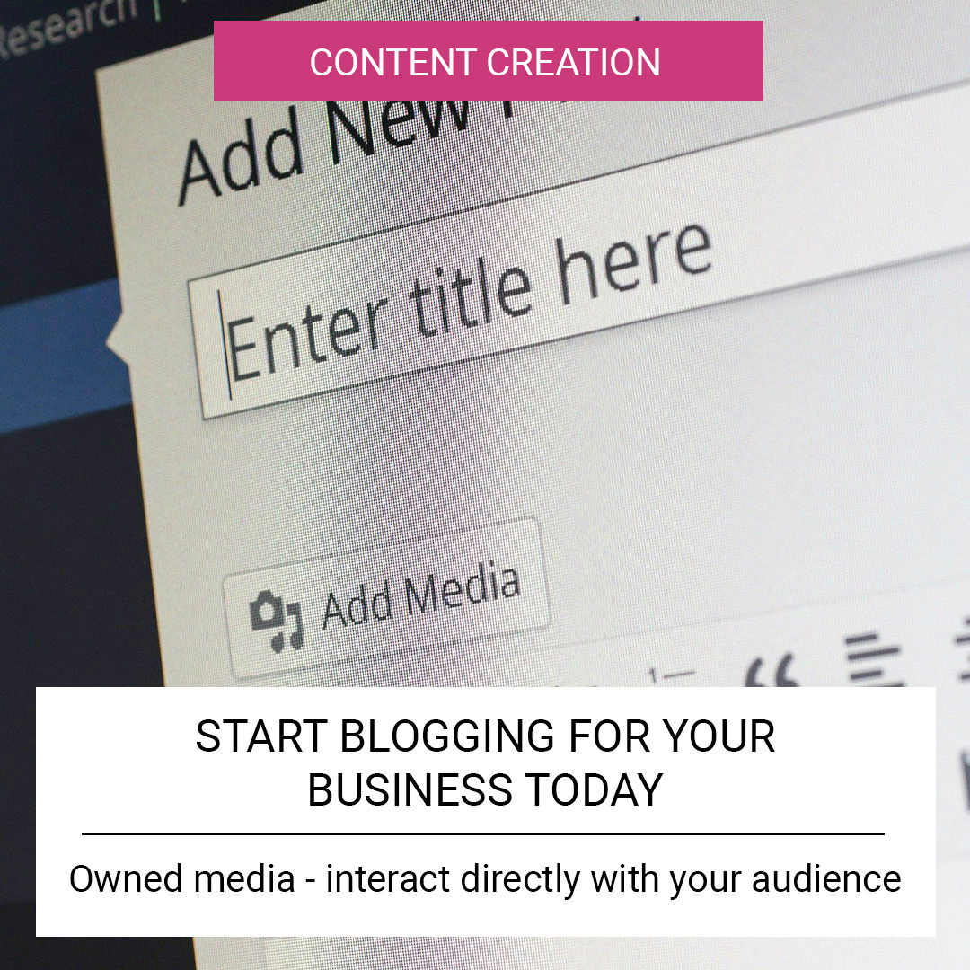 Start blogging for your business today