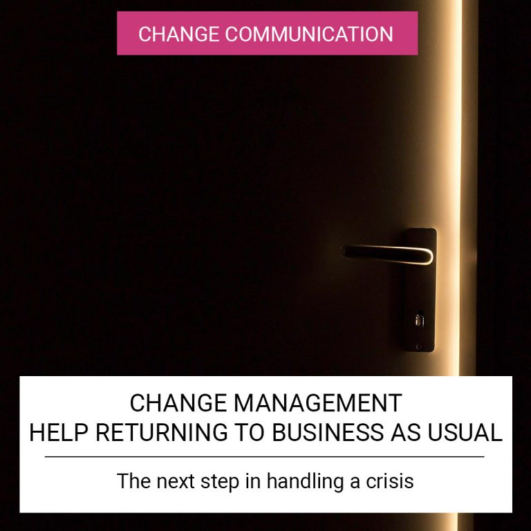 Change Management - Help returning to business as usual