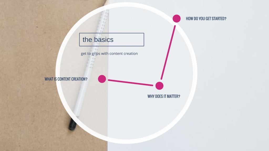 content creation - the basics