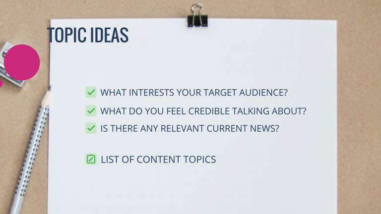 Topic Ideas
