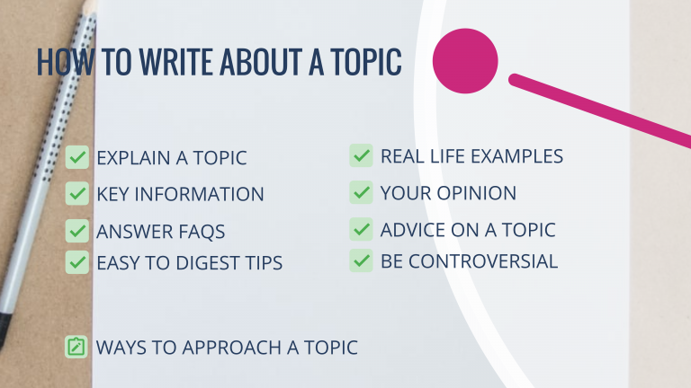 How to write about a topic